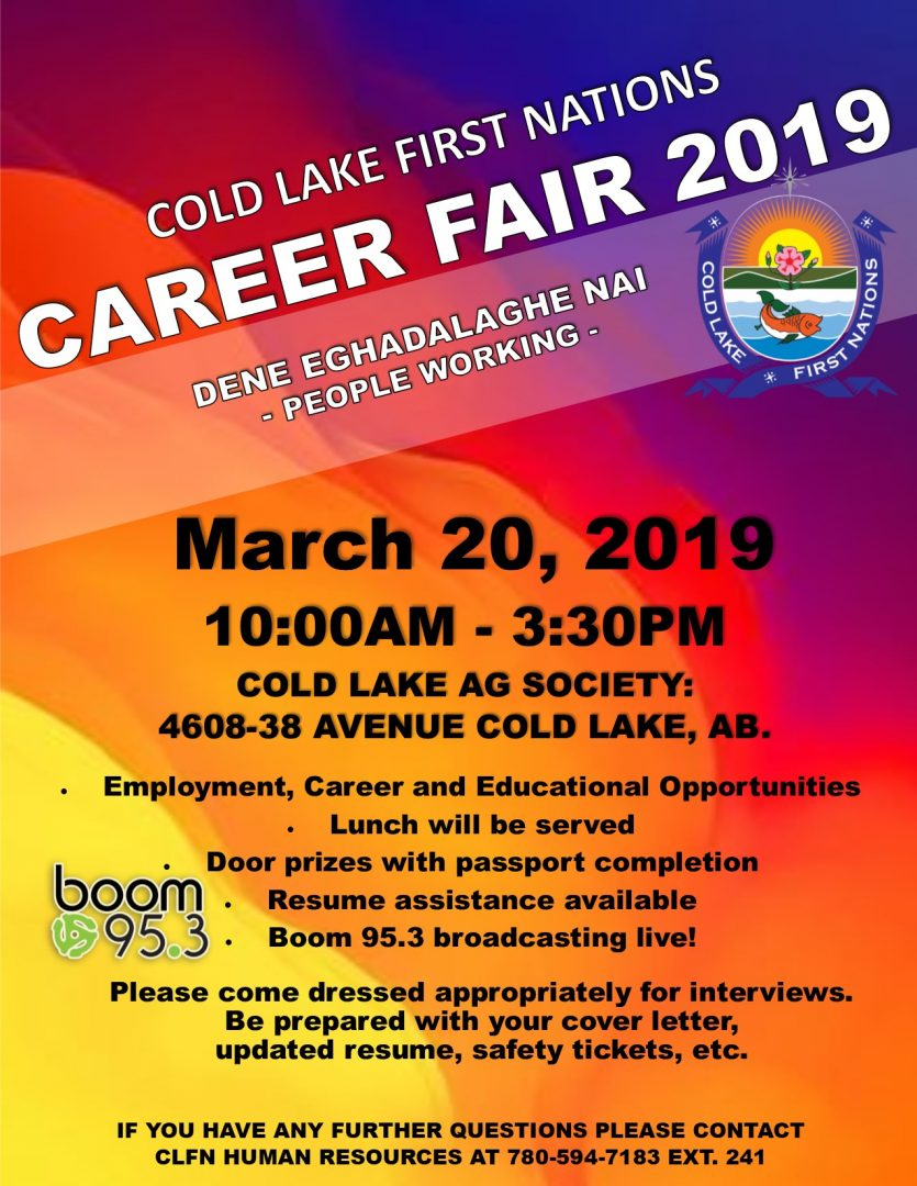Career Fair 2019 poster - Cold Lake First Nations