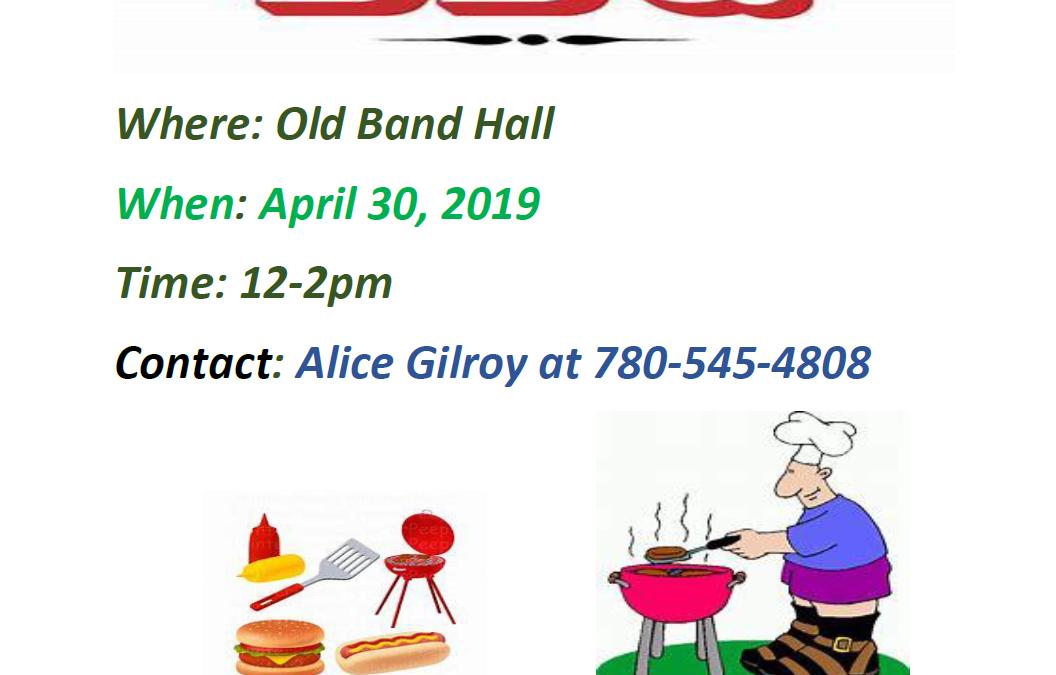 Elders BBQ, April 30th