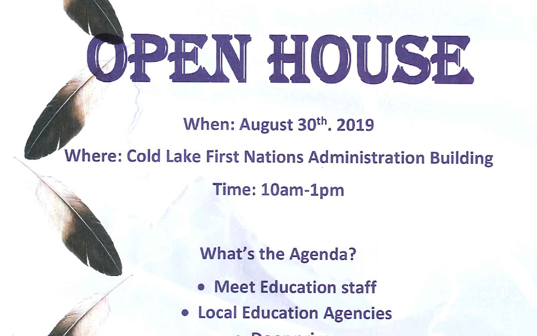Education Open House, August 30th