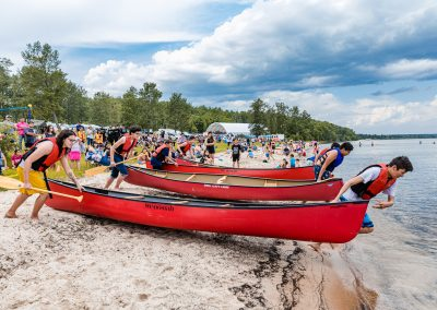 Canoe Races Great Photo